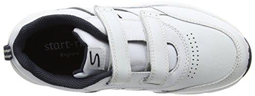 Start-Rite - Meteor, Scarpe fitness Unisex – Bambini White (White Navy)