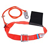 P Prettyia Cinturón Seguridad Cordón de Protección contra Caídas para Deportista - 1,6 m de Gancho Mediano