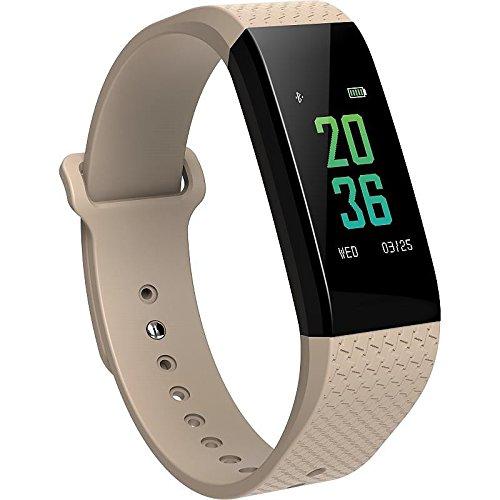 Lemumu Die neue B 12 Smart Bluetooth Sport Armband Herzfrequenz Überwachung von EKG und Blutdruck schlafen Temperatur Test, Weiß