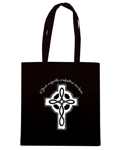 T-Shirtshock - Borsa Shopping T0108 CELTIC CROSS religioni celtic Nero