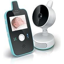 Philips Avent SCD603/00 -  Vigilabebés con cámara, alcance de 150 m, Pantalla LCD de 2,4 pulgadas con visión diurna y nocturna, activación de pantalla automática
