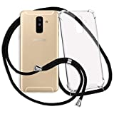 mtb more energy® Handykette für Samsung Galaxy A6 Plus, A6+ (SM-A605, 6.0'') / J8 2018 (SM-J810, 6.0'') - schwarz - Smartphone Hülle zum Umhängen