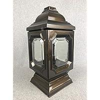 Einsatz Grableuchte Glas Kunstoff silber gold 33 cm Grablicht Grablaterne inkl