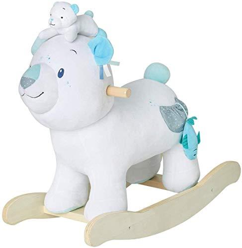 YYSDH Juguete de Peluche de Oso Polar, balancín de Madera para niños 1,2,3 años, Regalo para niños...