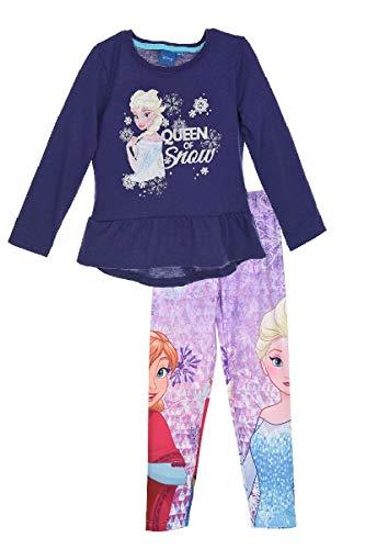 Frozen - Die Eiskönigin Disney ELSA Tunika Langarmshirt + Leggings Set, Größe:116 (6 A) -