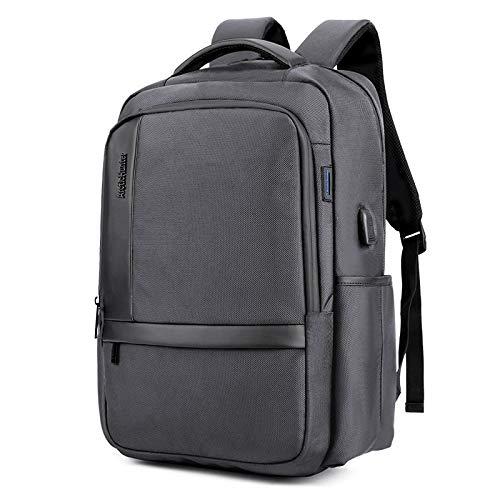 Hersteller New Herren Nylon Business Computer Tasche USB Aufladung Rucksack Cross-Border Outdoor Bag A Generation of Grey 45,7 cm -