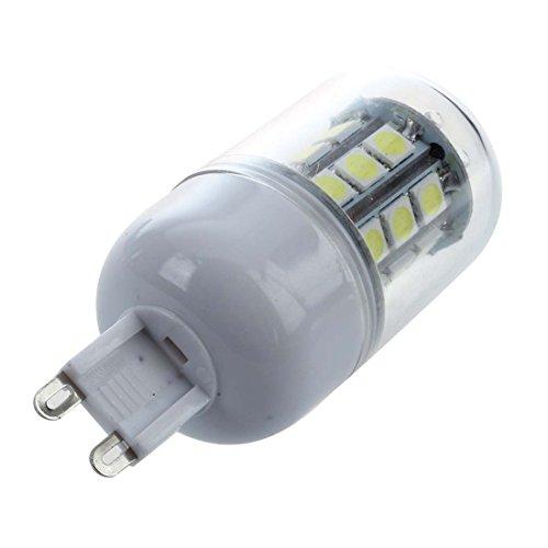 SODIAL(R) 10 G9 Ampoule Lampe Spot 5050 SMD 27 LEDs Blanc 6500K 300LM a Abat-jour