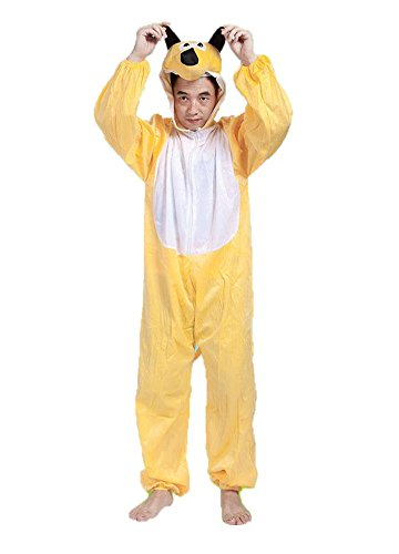 ierkostüme Unisex Pyjamas Kostüm Outfit Cosplay Onesies (Gelber Hund) (Hund Kostüme Für Frauen)