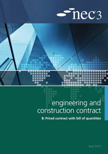 NEC3 Engineering and Construction Contract Option B: Price contract with bill of quantitities
