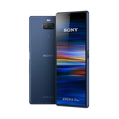 Sony Xperia 10 Plus - Smartphone de 6,5' Full HD+ 21:9 CinemaWide (Octa-Core de 1,8 Ghz, 4 GB de RAM, 64 GB de ROM, cámara dual de 12+8 MP, Android P, Dual Sim), Color Azul [Versión española]