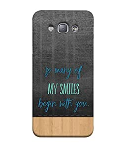 PrintVisa Designer Back Case Cover for Samsung Galaxy A8 (my smile begins with you)