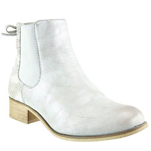 Angkorly - Damen Schuhe Stiefeletten - Chelsea Boots - Reitstiefel Kavalier - Vintage-Stil -...