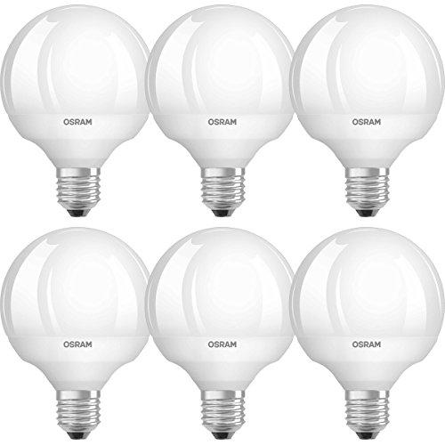 OSRAM LED Star Classic Globe / LED-Lampe in Ballform mit E27-Sockel / Nicht Dimmbar / Ersetzt 60 Watt / Matt / Warmweiß - 2700 Kelvin / 6er-Pack - Star Globe