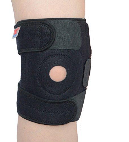 Atmungsaktiv Knie Unterstützung für Arthritis, ACL und Meniskus Reißfestigkeit & Schmerzlinderung-verstellbarer Kniebandage offene Patella mit Gurt für Sport Laufen - Patella Tendonitis Gurt