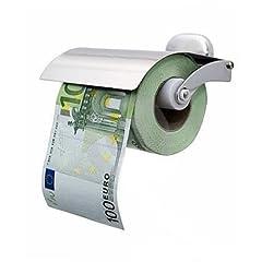 Idea Regalo - Carta igienica Banconota 100 €uro misura 24 metri in barattolo PVC