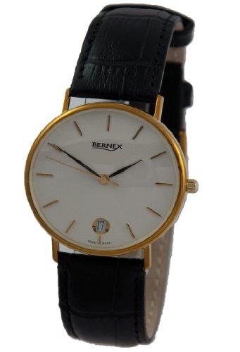 Bernex BN11605 - Reloj de pulsera hombre, oro amarillo, color dorado