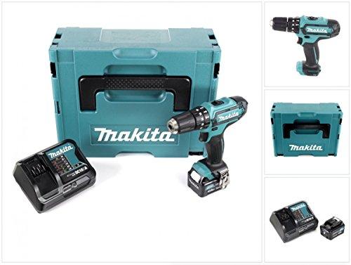 Preisvergleich Produktbild Makita HP 331 DSM1J 10,8 V Li-Ion Akku Schlag Bohr Schrauber im Makpac + 1x BL 1040 B 4,0 Ah Akku + DC 10 SA Schnellladegerät