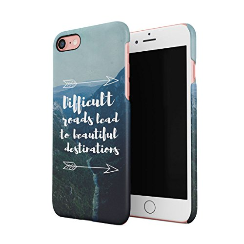 Lets Get Lost Riding On Road Trip Cruise Wanderlust Custodia Posteriore Sottile In Plastica Rigida Cover Per iPhone 7 Plus & iPhone 8 Plus Slim Fit Hard Case Cover Difficult Roads
