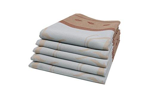 Zollner 5er-Set Geschirrtücher aus Baumwolle, hellgrau (weitere verfügbar), 50x70 cm