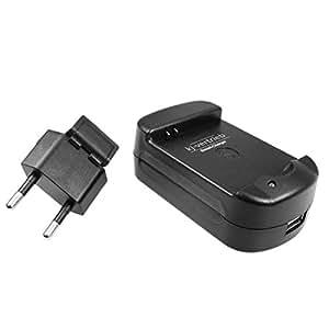 Akku-Ladegerät für Samsung Galaxy S i9000, S Plus i9001, i9010, Omnia 735 u.v.a. - mit USB-Anschluss