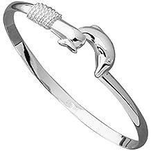 fendii pulsera de las mujeres pulsera de delfín de plata, con sello 925