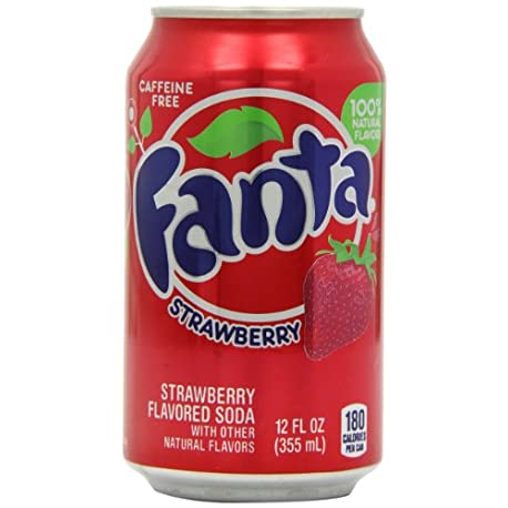 Fanta Refresco sabor de fresa 12 latas de 355 ml Total 4260 ml