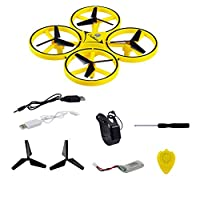 Interactive Watch Induction Drone for Kids Adult, LED Lighting Gesture Remote Control Four-axis Aircraft RC Quadcopter Flying Toys Gift for Boys Girl