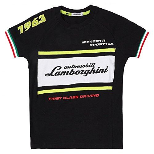 Lamborghini Kids Automobili Lamborghini 1963 Racing T-Shirt 6 Yrs Black - Lamborghini-shirt