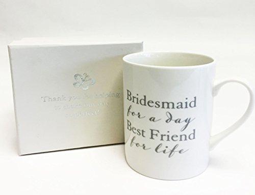 k–Tasse mit Aufschrift und Geschenk-Box (Brautjungfer-geschenk-boxen)