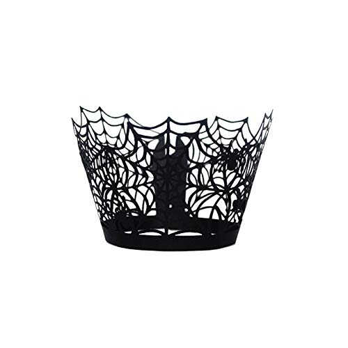 Kuchen Tasse Halloween Spinne Hexe Kürbis Kuchenverpackungen Papier Kuchen Topper Favor Party Decor (A) ()
