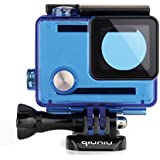 Qiuniu Standard Protective Waterproof Dive Housing Case For GoPro Hero 4 3 3 Camera - Up To 40 Meters Underwater - Transparent Blue