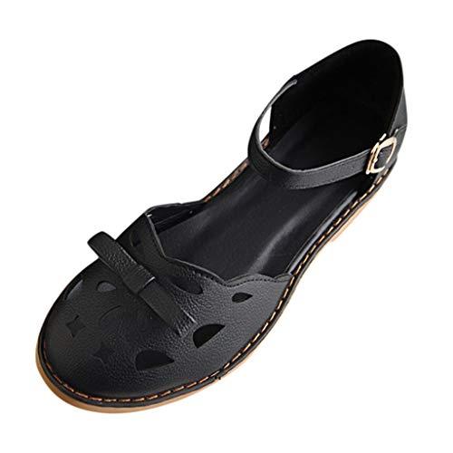 SOMESUN 2019 Donne Moda Sandali Estate Tinta Unita Hollow Tacco Spesso Sandals Testa Rotonda Shoes