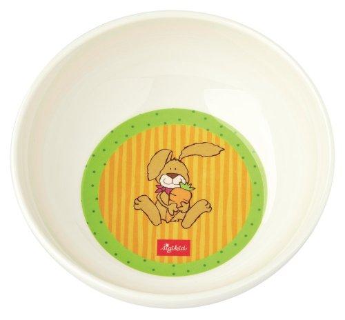 sigikid Boys 23857 - Tazón de melamina, 14 cm, diseño conejo, color amarillo importado de Alemania