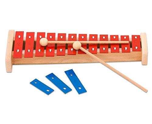 Betzold Musik 4730 - Sopran-Glockenspiel, 15 Klangplatten - Stabspiel Schlaginstrument Kinder Musikschule Musikunterricht Schule Schüler musizieren Instrumente lernen Musikinstrumente