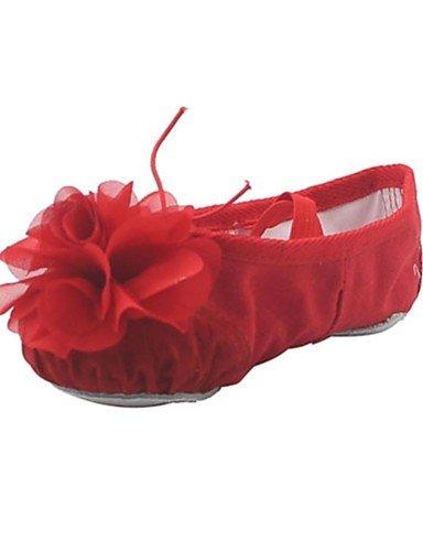 Kids' Ballet/Women's Appartements Fleur Toile Chaussures de danse (plus de couleurs) pour les filles de ballet Almond