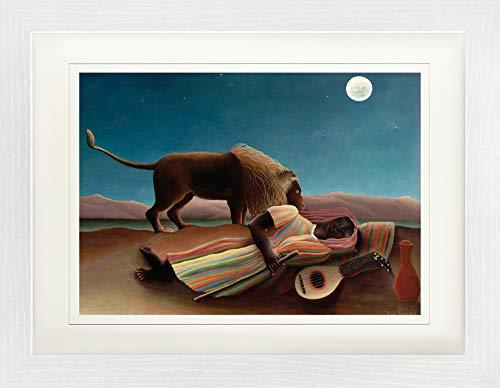 1art1 121417 Henri Rousseau - Die Schlafende Zigeunerin, 1897 Gerahmtes Poster Für Fans Und Sammler 40 x 30 cm -