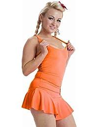 Mujer Camiseta Corredor De Neón Espalda Top Ajustado Verano Chaleco Top Tutú Colores 8 - 16