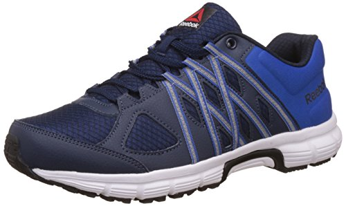 Reebok Men's Meteoric Run Navy, Awsm Blue, Blk and Wht Running Shoes -8 UK/India (42 EU) (9 US)