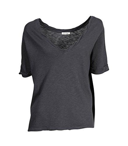 AMERICAN VINTAGE Damen Shirt Milo in Dunkelgrau carbon vintage