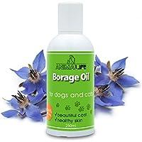 Aceite de Borraja 250ml para Perros & Gatos - 100% Natural Producto para Mascotas - Rico en ácidos Grasos Insaturados (Omega 3 6 9) - Ideal para Pelo - Borago Oil for Pets