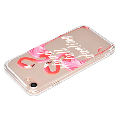 "Coque iPhone 6 Silicone Housse,Etui iPhone 6S Gel Transparente Case Cover Rosa Schleife® 4.7"" Apple iPhone 6 TPU Silicone Gel Souple Case Coque de Protection Portable Smartphone pochette Transparente  58-style"