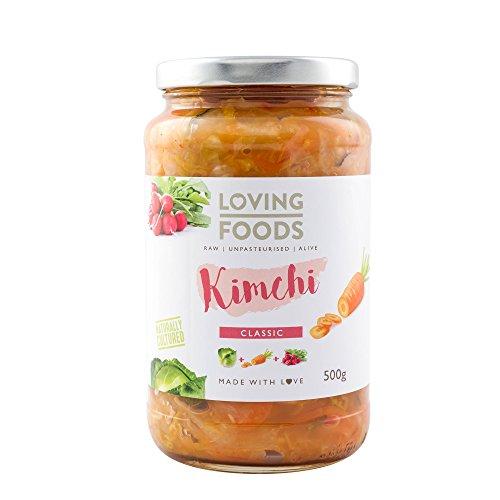 Loving Foods Orgánico Kimchi Clásico (500g) CRUDO | SIN PASTEURIZAR | VIVO (1 x Jar)