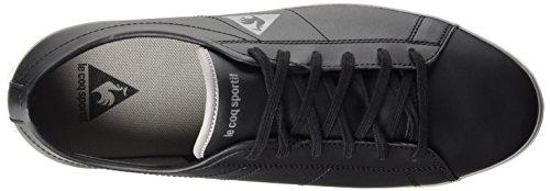 Le Coq Sportif Slimset S Lea, Baskets Basses Homme Noir (Black)