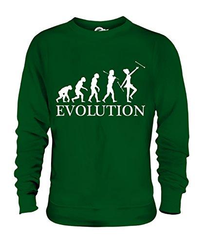 Candymix Baton Twirling Evolution des Menschen Unisex Herren Damen Sweatshirt, Größe Small, Farbe ()