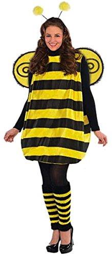 amscan Liebling Hummel Kostüm Erwachsene Käfer Kostüm Outfit Insekt STD - XL (Kleidergröße UK 18-20 XL)