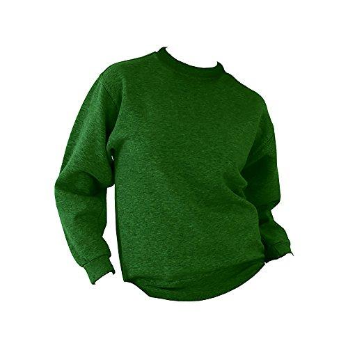 UCC 50/50 Pullover / Sweatshirt, unifarben, Rundhalsausschnitt Flaschengrün