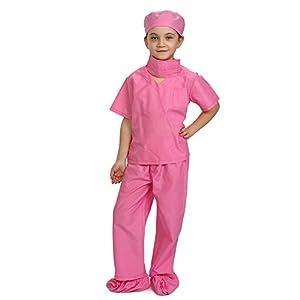 Dress up America Rosa niños médico Scrubs Disfraz niños Pretend del Doctor Scrub Play Outfit