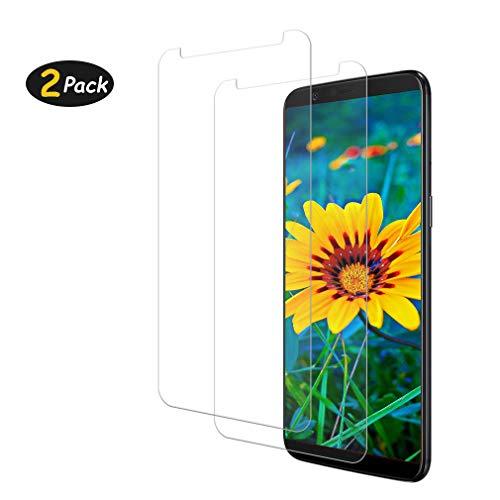 Sunoule [2-Pezzi Vetro Temperato Compatibile con OnePlus 5T, Ultra Resistente Pellicola Protettiva per OnePlus 5T, [Durezza 9H] [Anti Graffi] [Bordi Arrotondati da 2.5D]