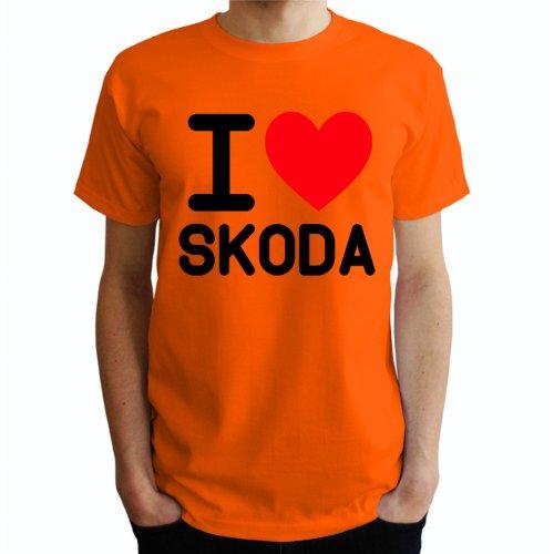 I love Skoda Herren T-Shirt Orange
