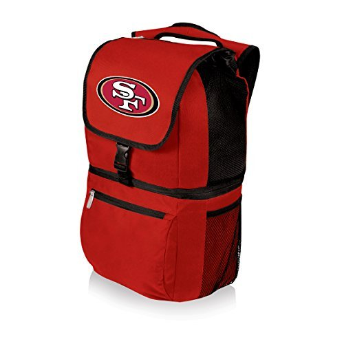 nfl-zuma-insulated-cooler-backpack-red-san-francisco-49ers-by-picnic-time